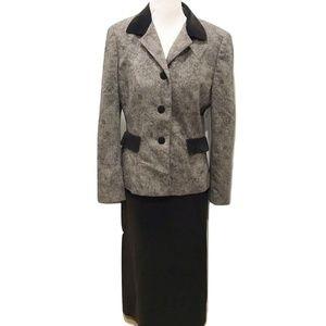 Le Suit Size 10 Brown Skirt Suit Classic Elegant